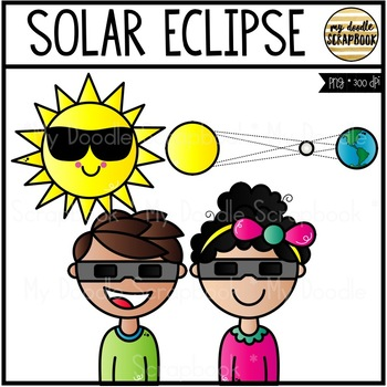 350x350 Solar Eclipse Freebie (Clip Art For Personal Amp Commercial Use) Tpt