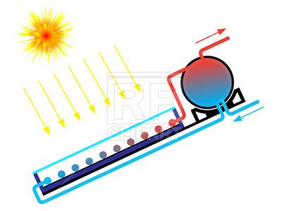 400x300 Solar Water Heater Scheme Royalty Free Vector Clip Art Image