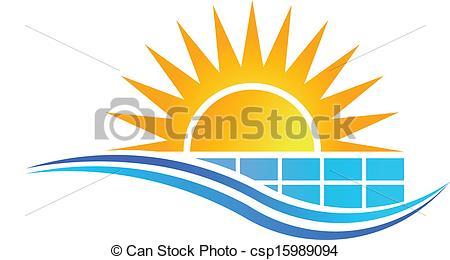 450x260 Sun With Solar Panel Logo Vector Eps Vectors