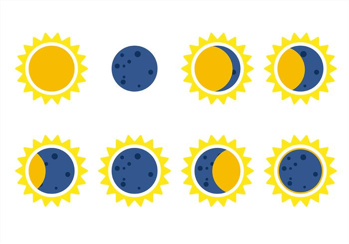 700x490 Solar Eclipse Icon Vector