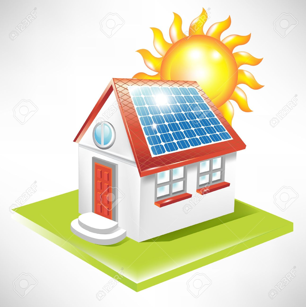 1294x1300 Collection Of Solar Panel On House Clipart High Quality