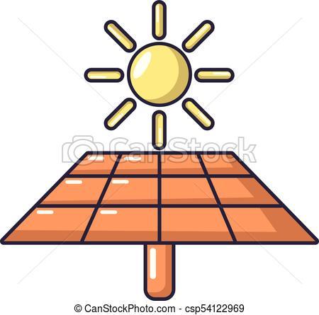 450x445 Solar Energy Icon, Cartoon Style. Solar Energy Icon. Cartoon