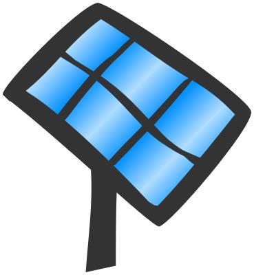 369x400 Solar Panel Clipart