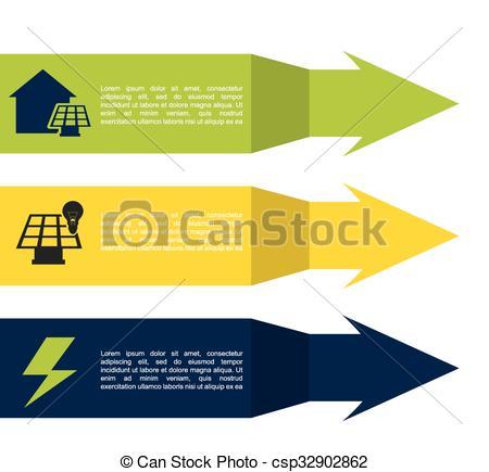 450x435 Solar Energy Design, Vector Illustration Eps10 Graphic Clip Art