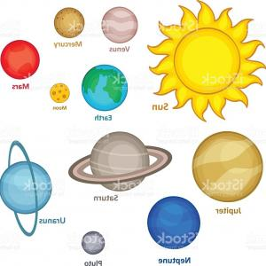 300x300 Set Of Nine Planets Of Solar System Vector Clipart Lazttweet