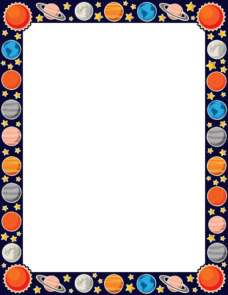 470x608 Collection Of Solar System Border Clipart High Quality, Free
