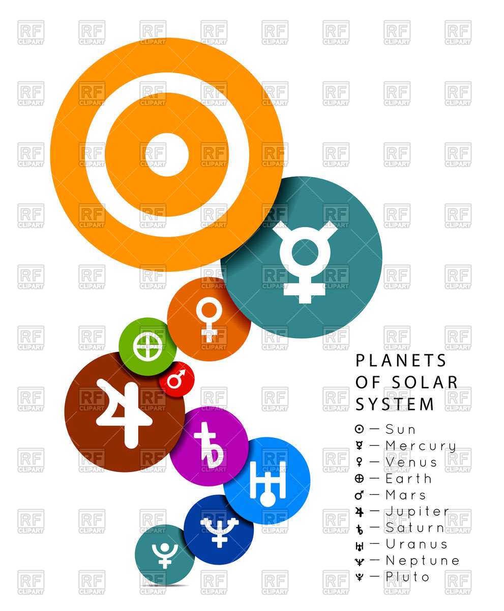 991x1200 Planets Of Solar System In Flat Style Royalty Free Vector Clip Art