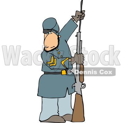 400x400 Civil War Soldier Loading His Rifle Clipart Djart