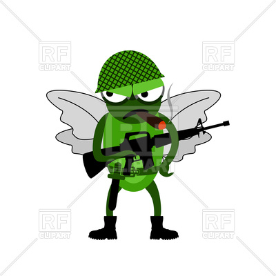 400x400 Character Of Fly Soldier Royalty Free Vector Clip Art Image