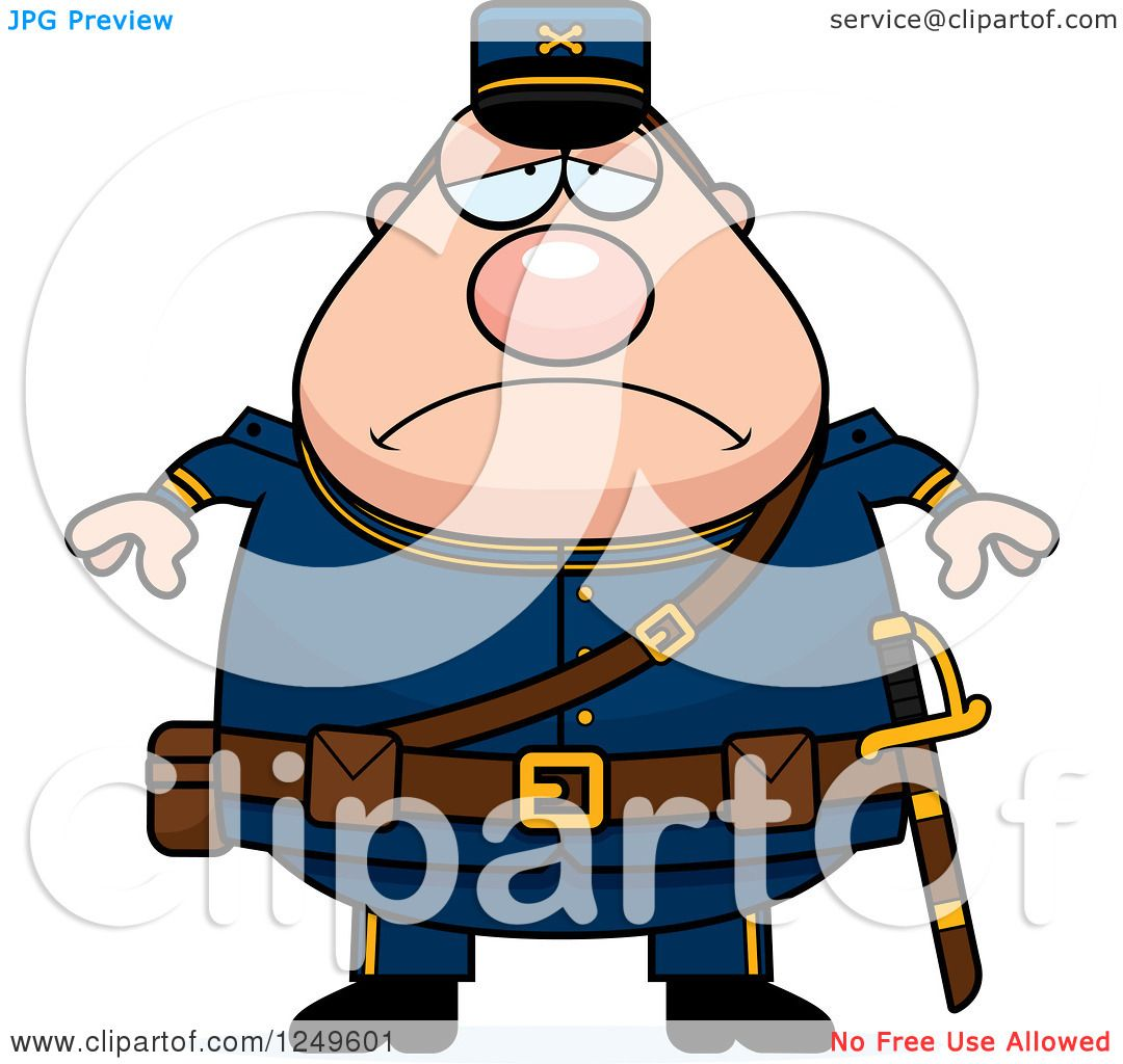 1080x1024 Clipart Of A Depressed Chubby Civil War Union Soldier Man