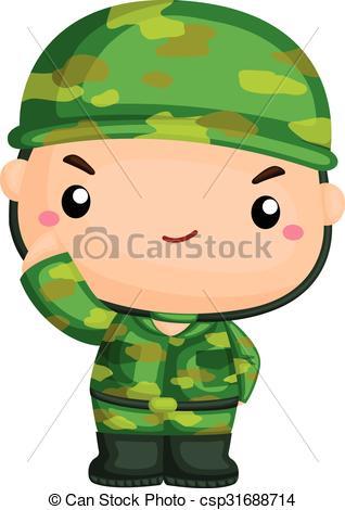 318x470 Cute Soldier Vector Clip Art