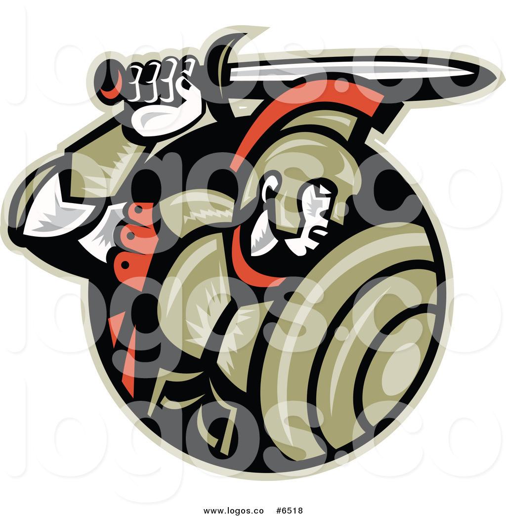 1024x1044 Royalty Free Clip Art Vector Logo Of A Roman Centurion Soldier
