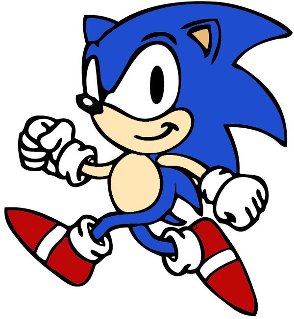 600x652 Sonic Clipart Sonic The Hedgehog Clip Art Cartoon Clip Art