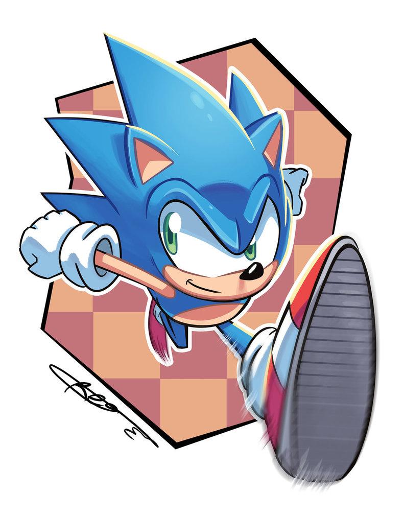 791x1010 Sonic The Hedgehog By Ziggyfin