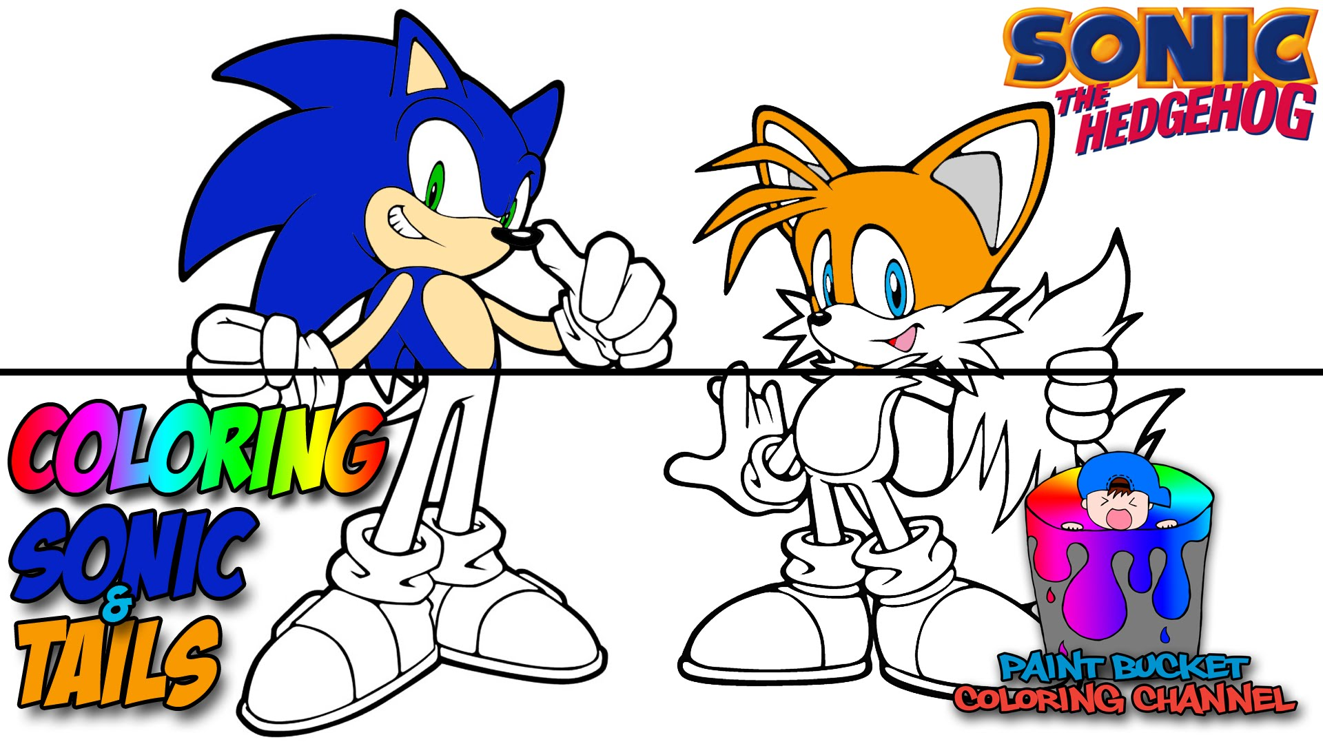 1920x1080 Coloring Sonic The Hedgehog And Tails