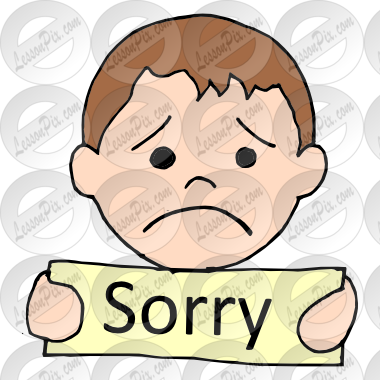 380x380 Sorry Picture For Classroom Therapy Use