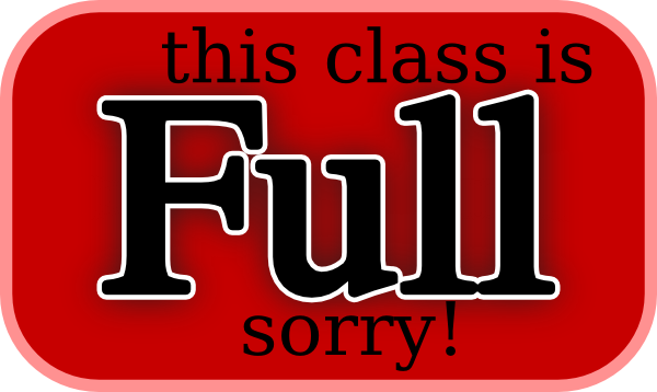 600x358 This Class Is Full Sorry Clip Art Free Vector 4vector