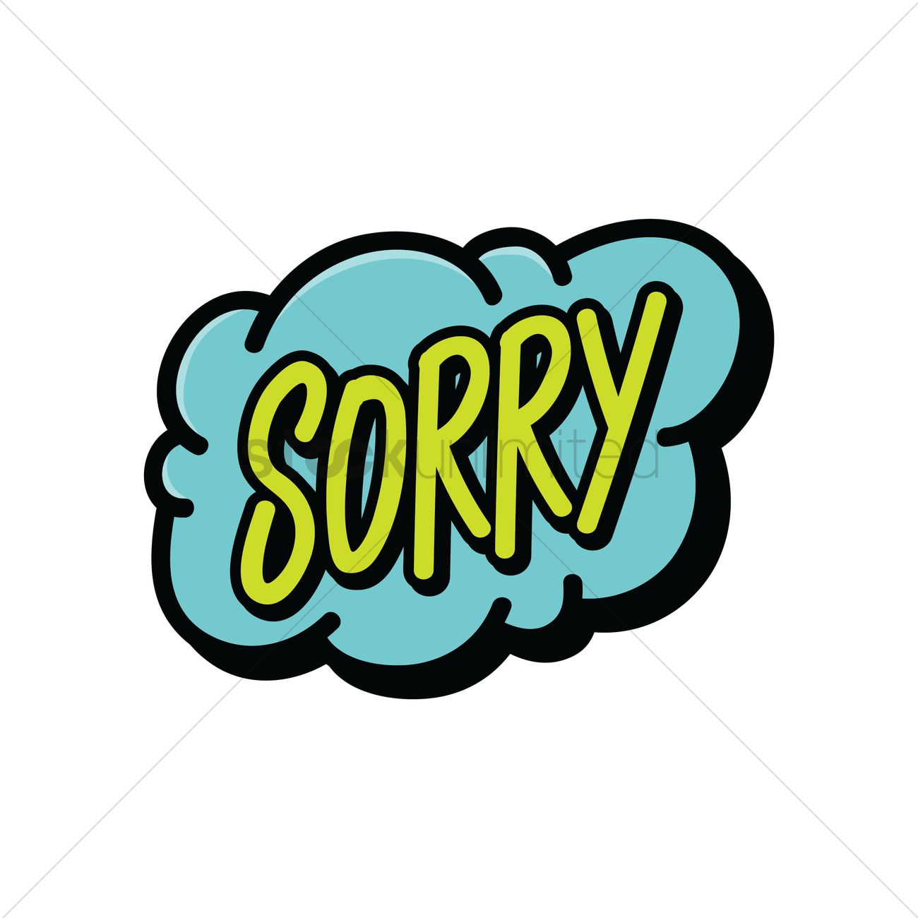 1300x1300 Comic Speech Bubble With The Word Sorry Vector Image