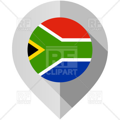 400x400 Map Marker With Flag Of South Africa Royalty Free Vector Clip Art