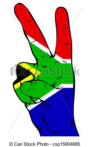 289x470 Peace Sign Of The South African Flag Stock Illustration