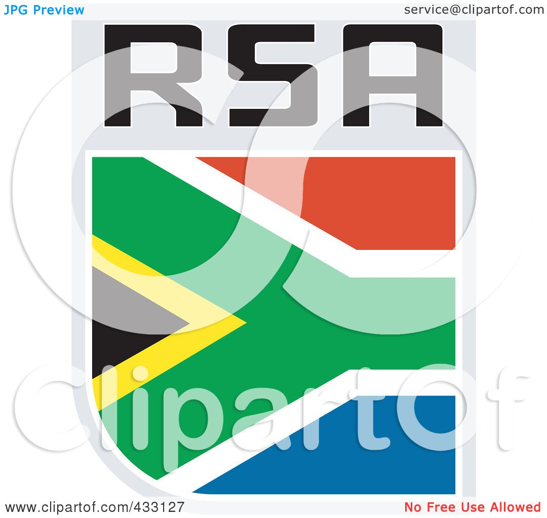 1080x1024 Royalty Free (Rf) Clipart Illustration Of A Rugby Flag For South