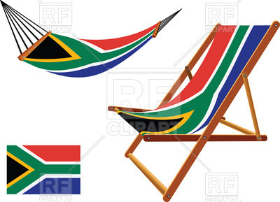 400x289 South Africa Flag Hammock And Deck Chair Royalty Free Vector Clip