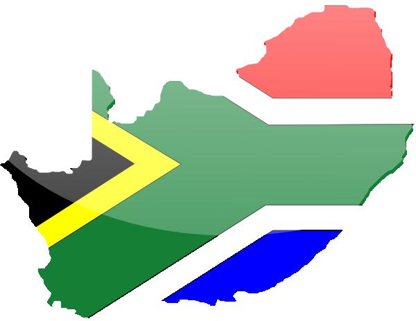 600x464 South African Flag Clip Art