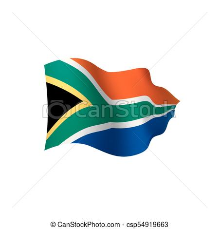 450x470 South Africa Flag, Vector Illustration On A White Background Clip