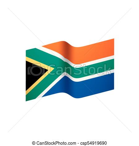 450x470 South Africa Flag, Vector Illustration On A White Background Eps
