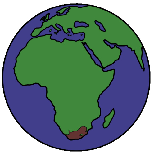 496x500 Earth Clipart Africa