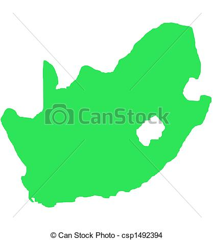 419x470 South Africa Outline Map Isolated. South Africa Outline Map
