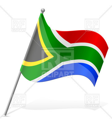 362x400 Wavy Flag Of South African Republic Royalty Free Vector Clip Art
