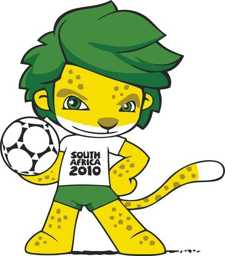 456x518 Free South Africa 2010 World Cup Mascot Zakumi Clipart And Vector