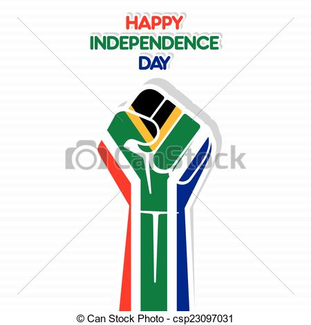 450x470dependence Day Of South Africa. Flag Of South Africa