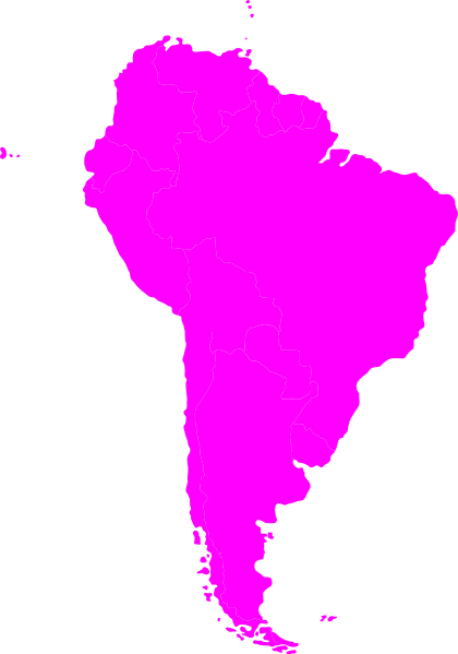 420x599 Montessori South America Continent Map Clip Art