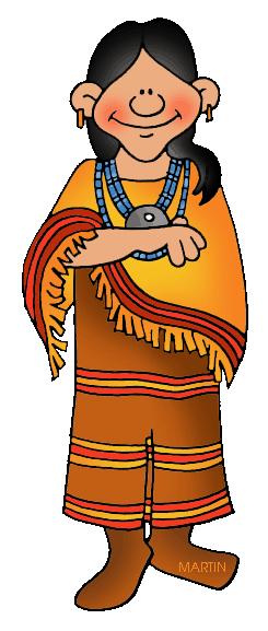 245x577 Native Americans Clip Art By Phillip Martin, Southwest Apache Woman