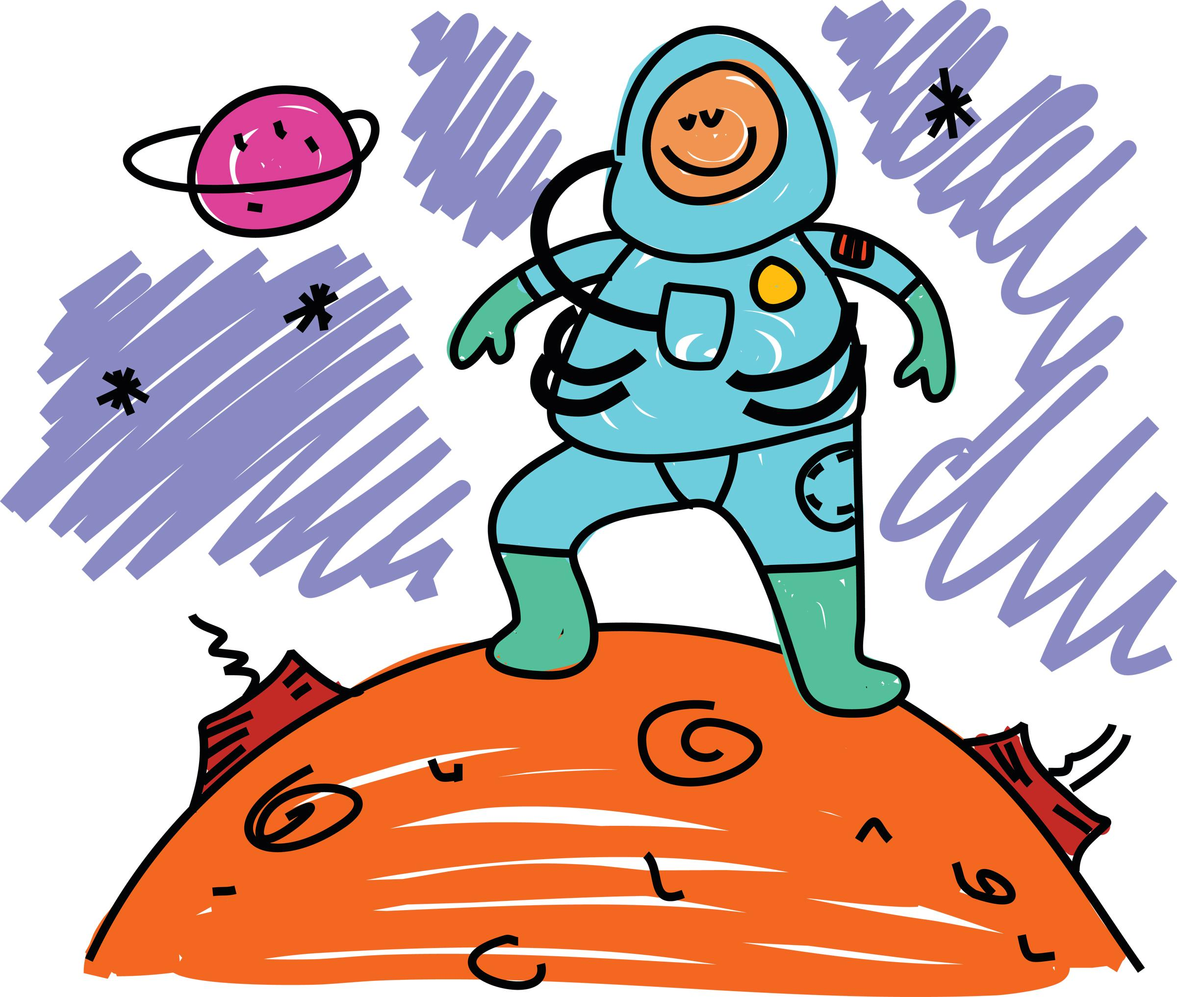 2400x2033 Image Of Astronaut Clipart