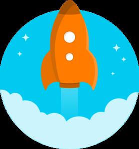 279x299 Orange Space Rocket Clip Art Space Rocket