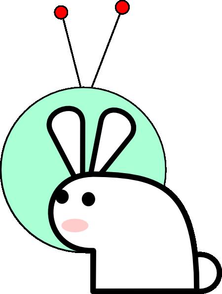 450x596 Space Bunny Clip Art