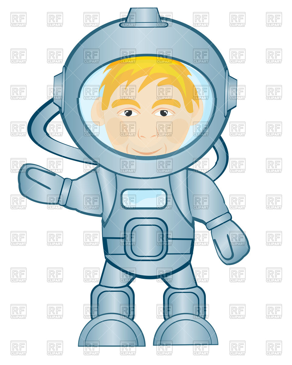 960x1200 Spaceman In Space Suit Royalty Free Vector Clip Art Image