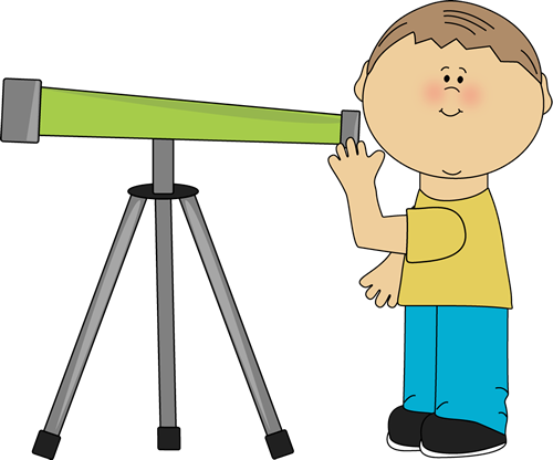 500x416 Boy Looking Through A Telescope. Space Clip Art