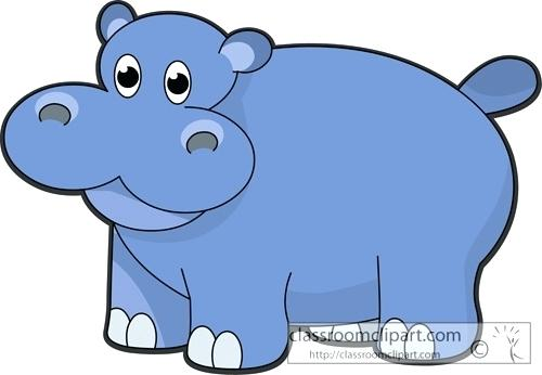 500x346 Hippopotamus Pictures Free Hippo And Free Space For Your Text