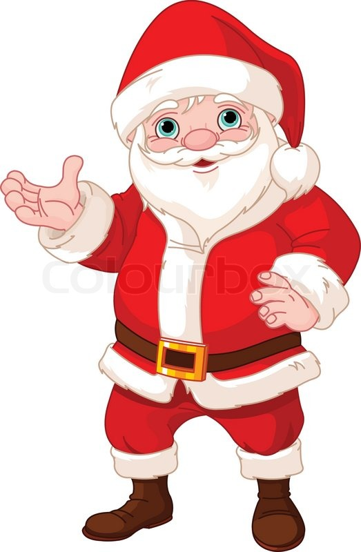 523x800 Launching Pictures Of Santa Clause Claus Showing To Copy Space