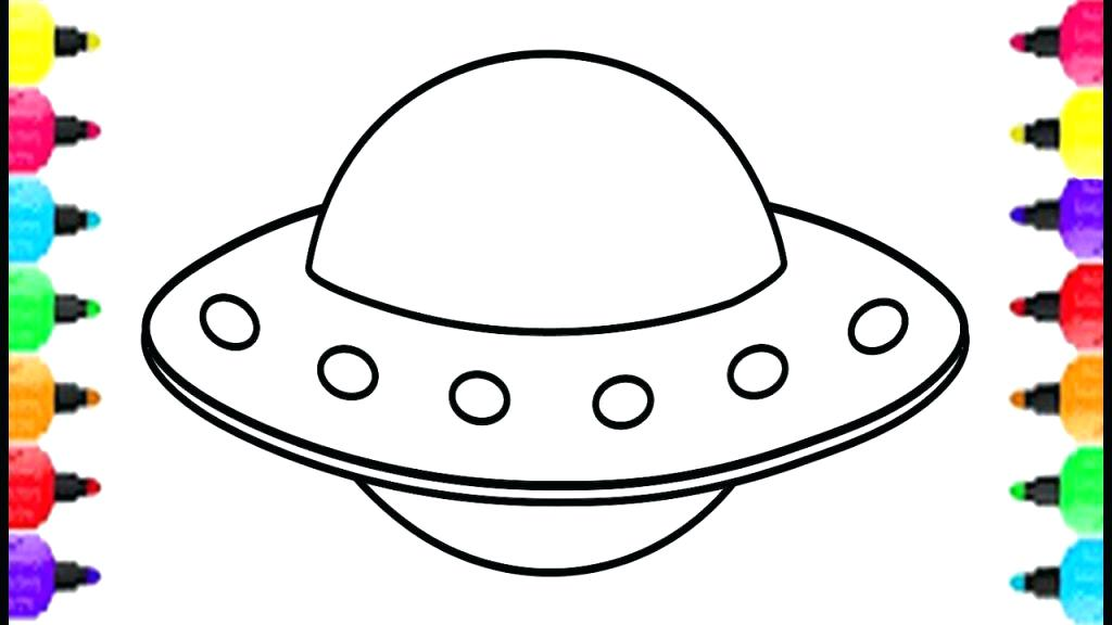 1024x576 Ufo Coloring Pages Crash Aliens Flying Sauc On Wonderful Space