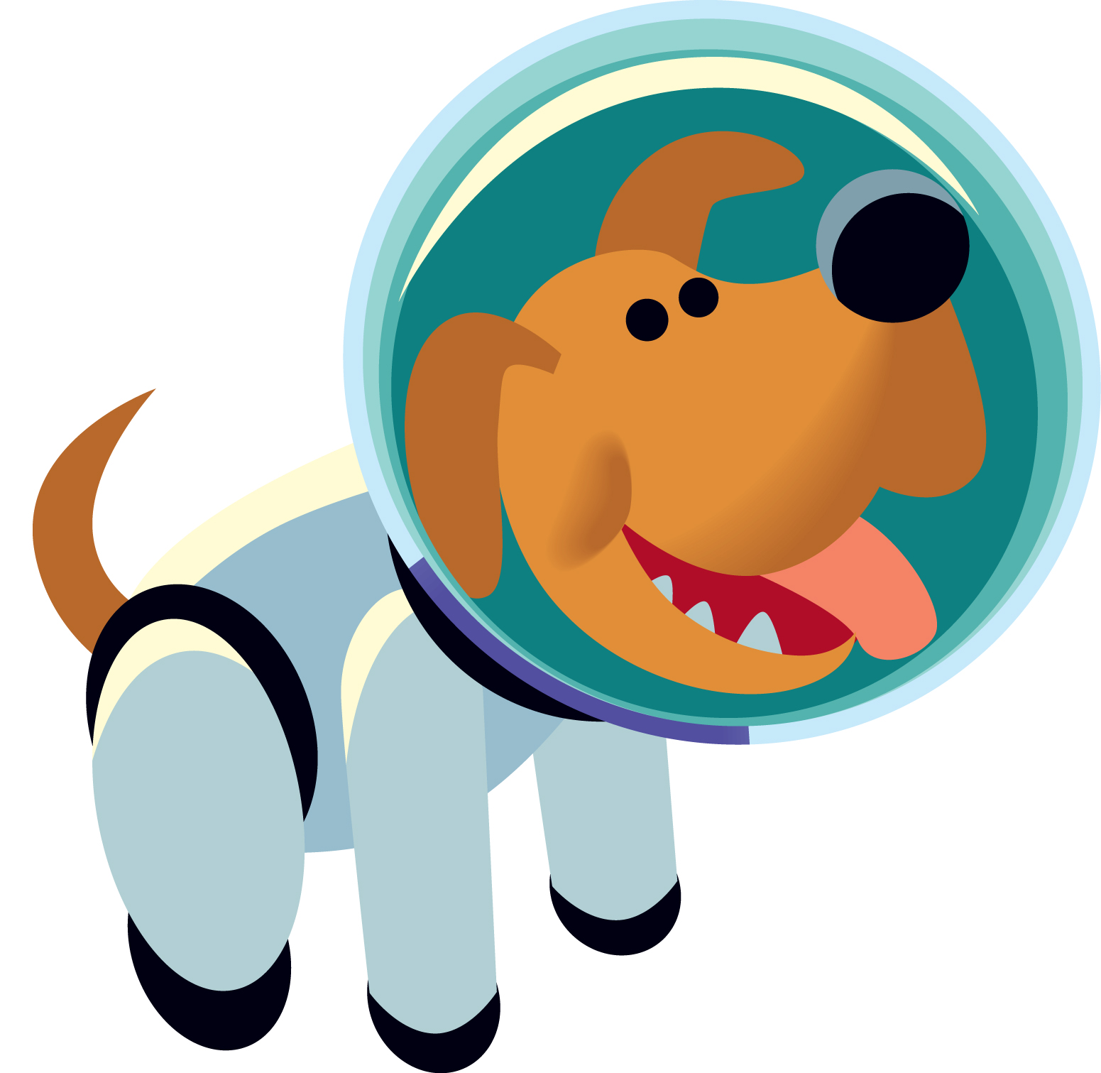 1551x1511 Dog In Rocket Clipart