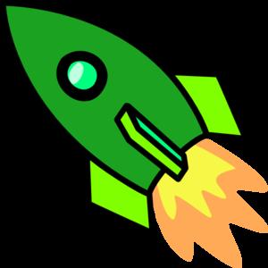 300x300 Green Rocket Clip Art