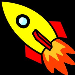 298x297 Rocket Clip Art