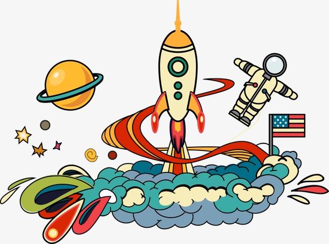 650x482 Space Rocket, Rocket, Creative Rocket, Rocket Launch Png Image