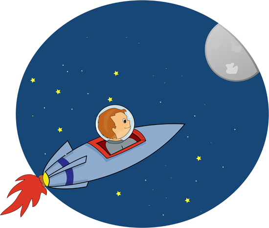 550x465 Space Clipart Rocket To Moon