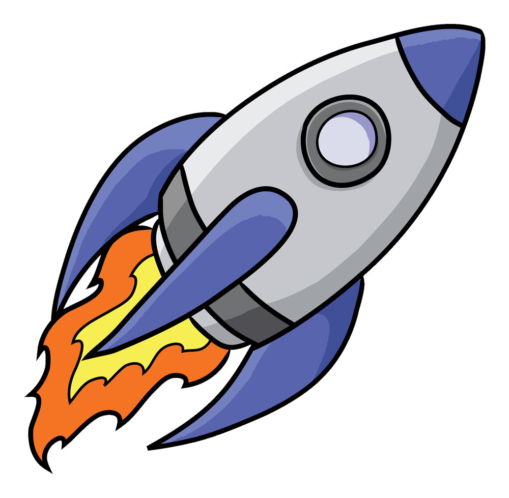 1000x979 Animated Rocket Space